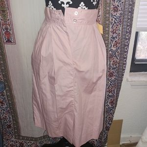 ·VINTAGE· high waisted pink pocketed skirt